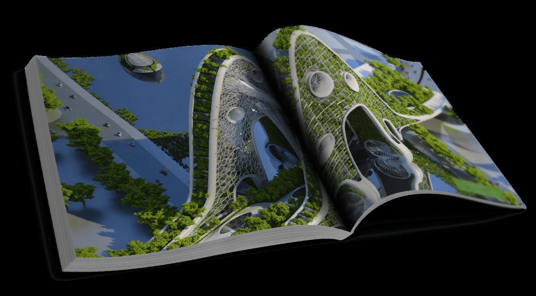 Bridge Towers – En amont et en aval de la Seine – Réinvestir les ponts et le fleuve – © Éditions Michel Lafon, 2015 – © Vincent Callebaut Architectures