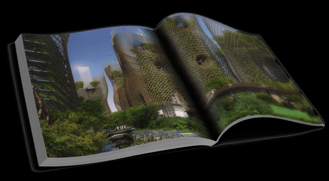 Bamboo Nest Towers – Quartier Olympiades et Ensemble Masséna – Valoriser les tours du passé – © Éditions Michel Lafon, 2015 – © Vincent Callebaut Architectures