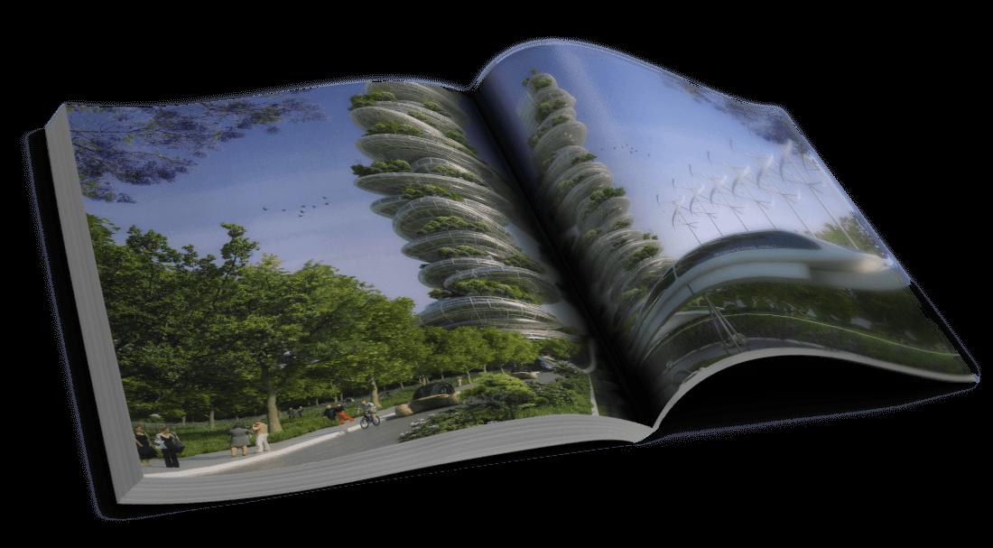 Farmscrapers – Porte d'Aubervilliers – Rapatrier la campagne dans la ville – © Éditions Michel Lafon, 2015 – © Vincent Callebaut Architectures