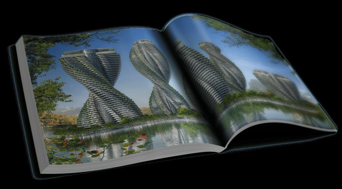 DNA Towers – Shangai, Chine – D'autres tours spiralées à l'étude – © Éditions Michel Lafon, 2015 – © Vincent Callebaut Architectures