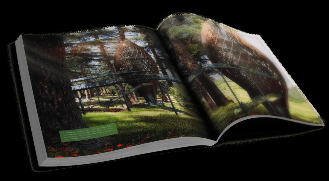 Kings Forest – Fès, Maroc – Des chalets respectueux et leur terrain – © Éditions Michel Lafon, 2015 – © Vincent Callebaut Architectures