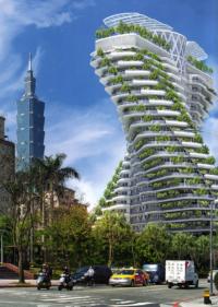 Tao Zhu Yin Yuan – Taipei, Taïwan – En cours de construction. Livraison prévue courant 2017 – © Éditions Michel Lafon, 2015 – © Vincent Callebaut Architectures
