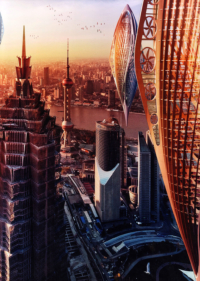 Hydrogénase – Shangai, Mer de Chine – La mobilité post-fossile – © Éditions Michel Lafon, 2015 – © Vincent Callebaut Architectures