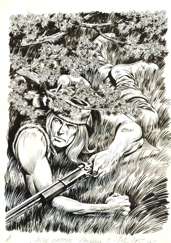 Blek le Roc – Poster de Kiwi # 238 - La Trahison de Roddy – Couverture originale Format A4 – Encre de chine – © Éditions Lug, 1975 – © Jean-Yves Mitton, 2015