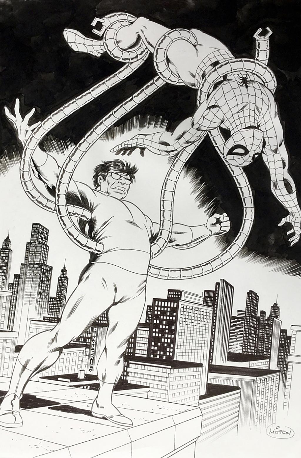 Spiderman – Poster de Strange # 110 – Planche originale – Encre de chine – © Éditions Lug, 1979 – © Jean-Yves Mitton, 1979/2015