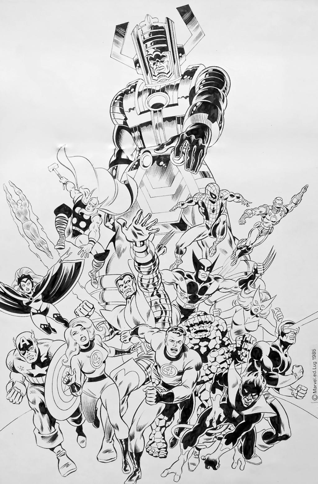 Guerres Secrètes – Poster de Strange # 190 – Planche originale 53 x 42 cm – Encre de chine – © Éditions Lug, 1985 – © Jean-Yves Mitton, 1985