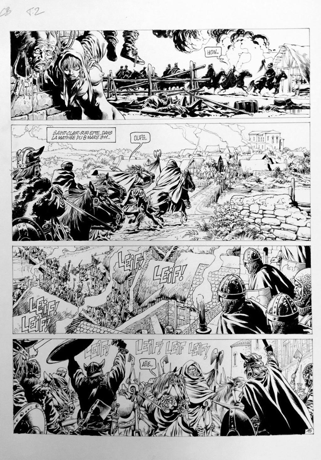 Chroniques Barbares, Tome 2, La Loi des Vikings, Page 15 – Planche originale – Encre de chine – © Éditions Soleil, 1995 – © Jean-Yves Mitton, 1995