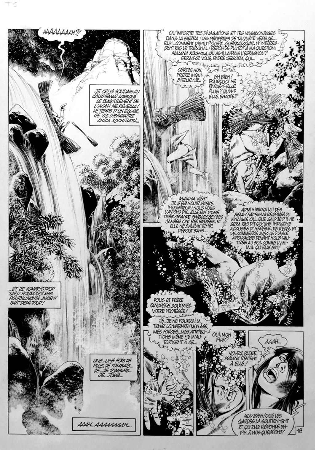 Quetzalcoatl, Tome 5, La Putain et le Conquistador, Page 18 – Planche originale – Encre de chine – © Éditions Glénat, 2003 – © Jean-Yves Mitton, 2003