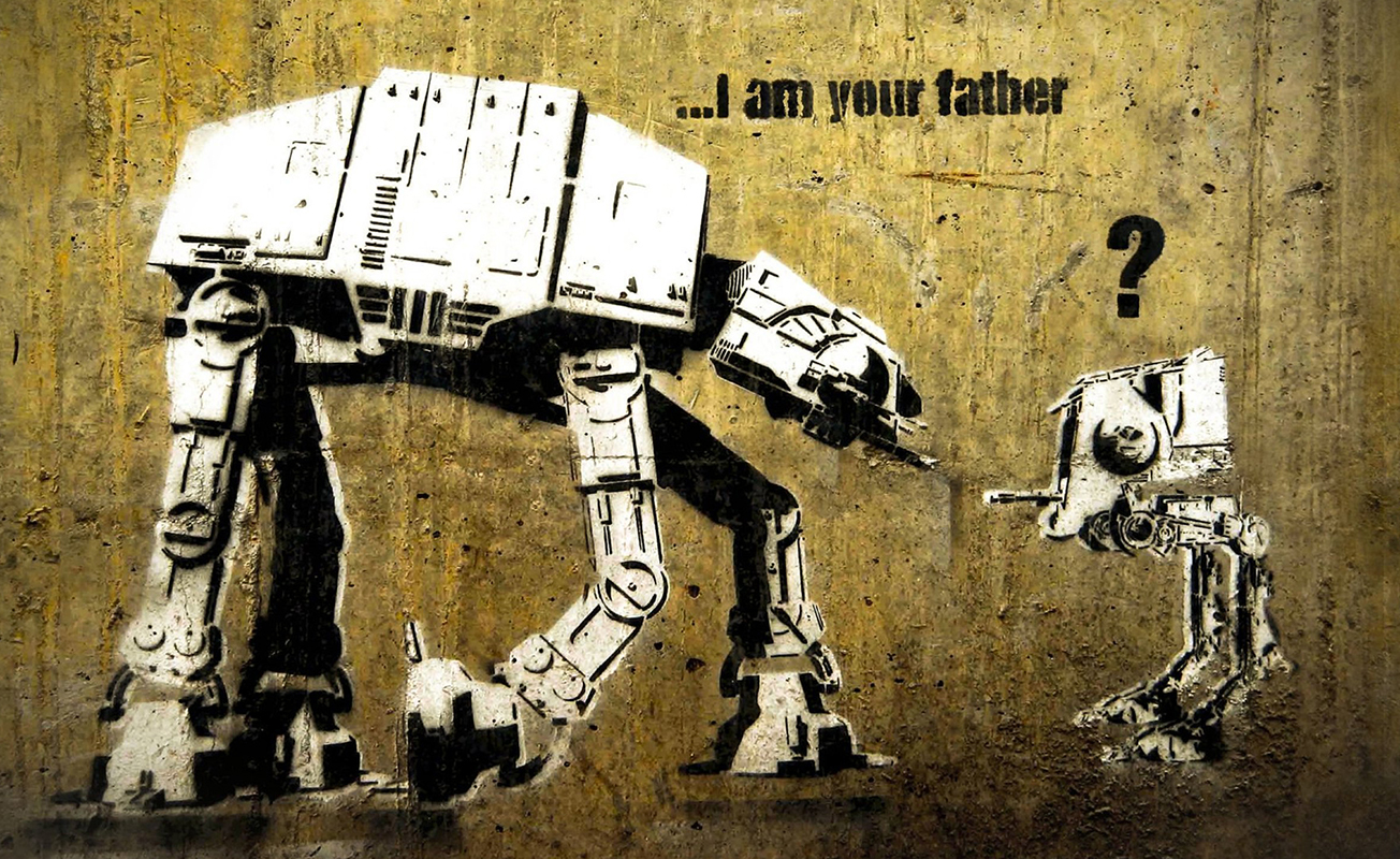 …I am your father – Copyright Banksy