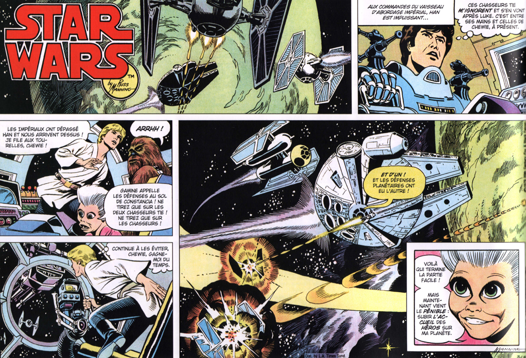 Star Wars – Les Strips quotidiens T 1 – © Star Wars © &™ 2018 Lucasfilm Ltd. All rights reserved. Used Under Authorization. Translation copyright © 2018 Éditions Delcourt pour la version française.