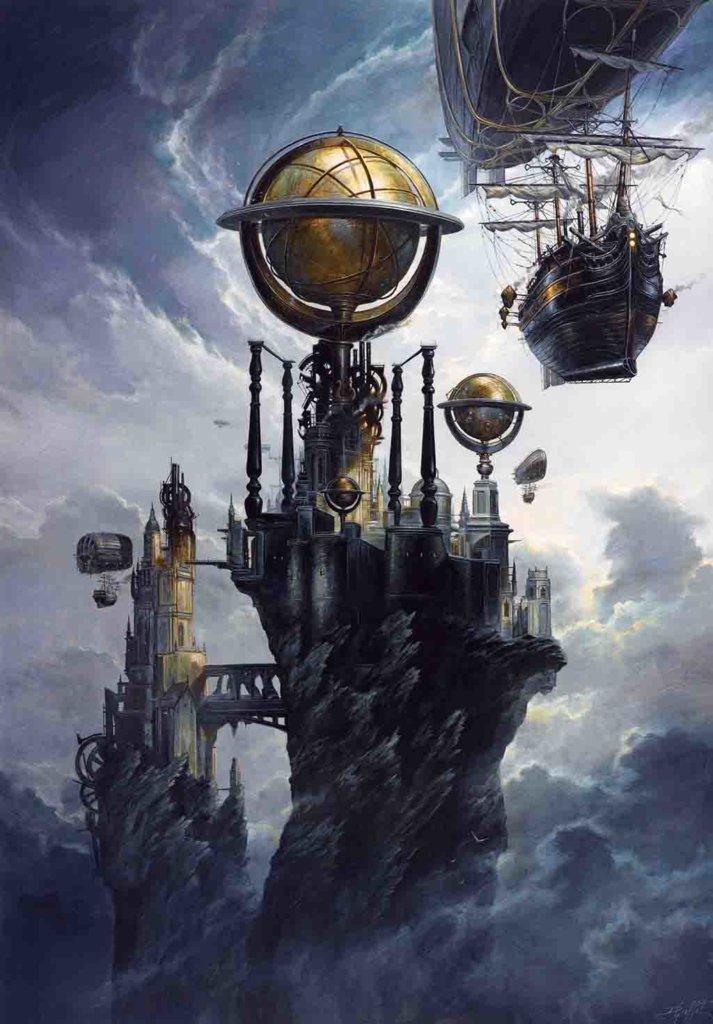 Nova Atlantis – Effluvium – Didier Graffet – © Éditions Bragelonne, 2019 – © Didier Graffet/Galerie Daniel Maghen
