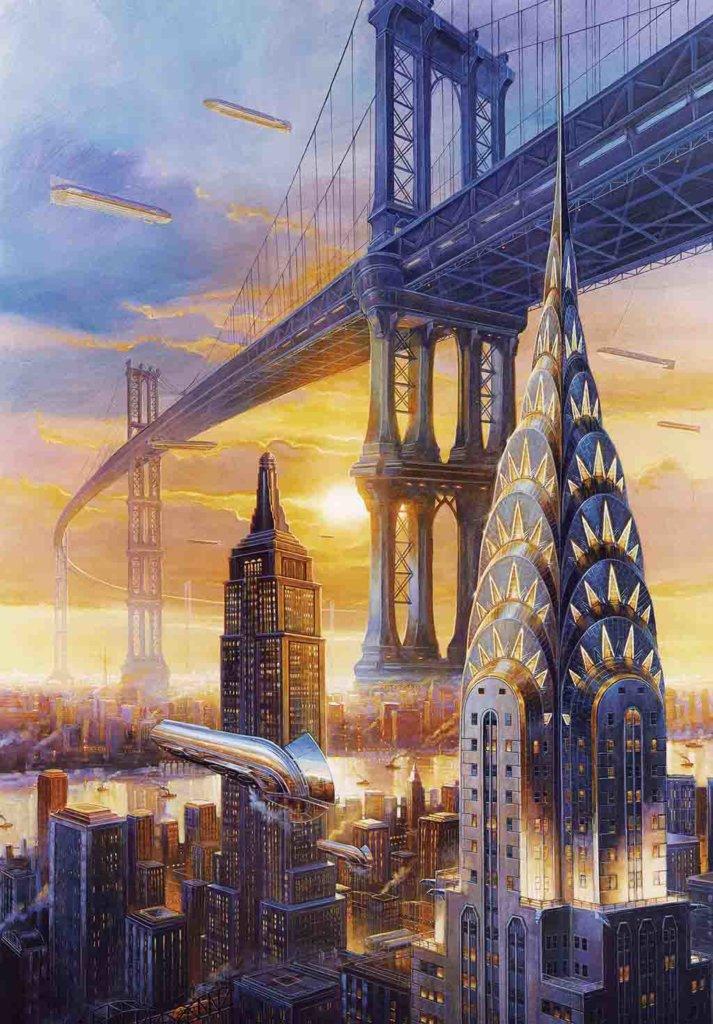 Twilight in N.Y.C. 1935 – Effluvium – Didier Graffet – © Éditions Bragelonne, 2019 – © Didier Graffet/Galerie Daniel Maghen