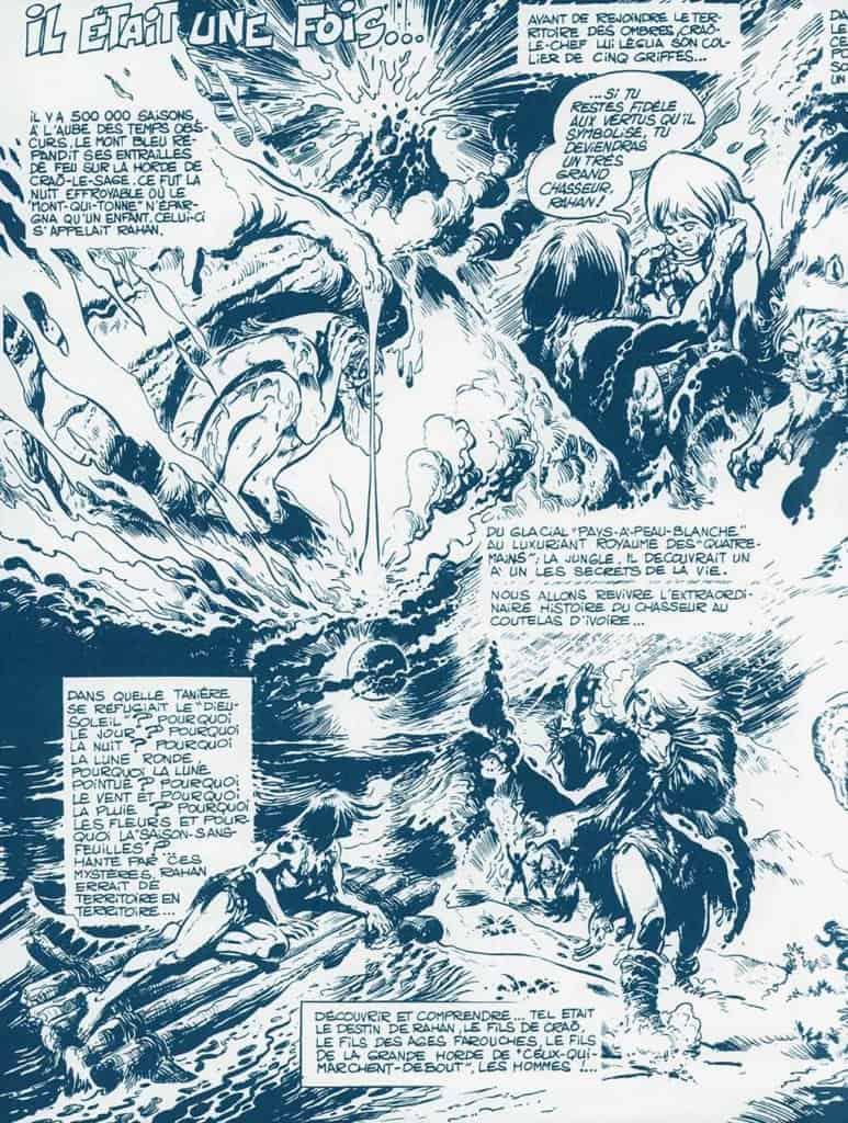 Rahan – Page intérieure gauche — © Éditions Soleil, 2019 — © Roger Lécureux et André Chéret, 1969
