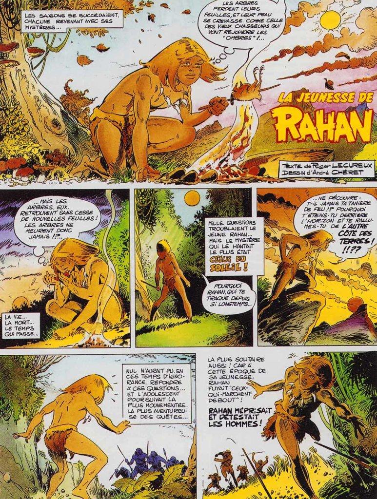 Rahan – La Jeunesse de Rahan – Tome 2 — © Éditions Soleil, 2019 — © Roger Lécureux et André Chéret, 1989