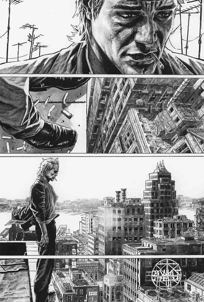 Joker — Lee Bermejo inside: En terrain obscur — Lee Bermejo — © Éditions Urban Comics, 2019 — © DC Comics, 2008 — © Brian Azzarello, 2008 — © Lee Bermejo, 2008