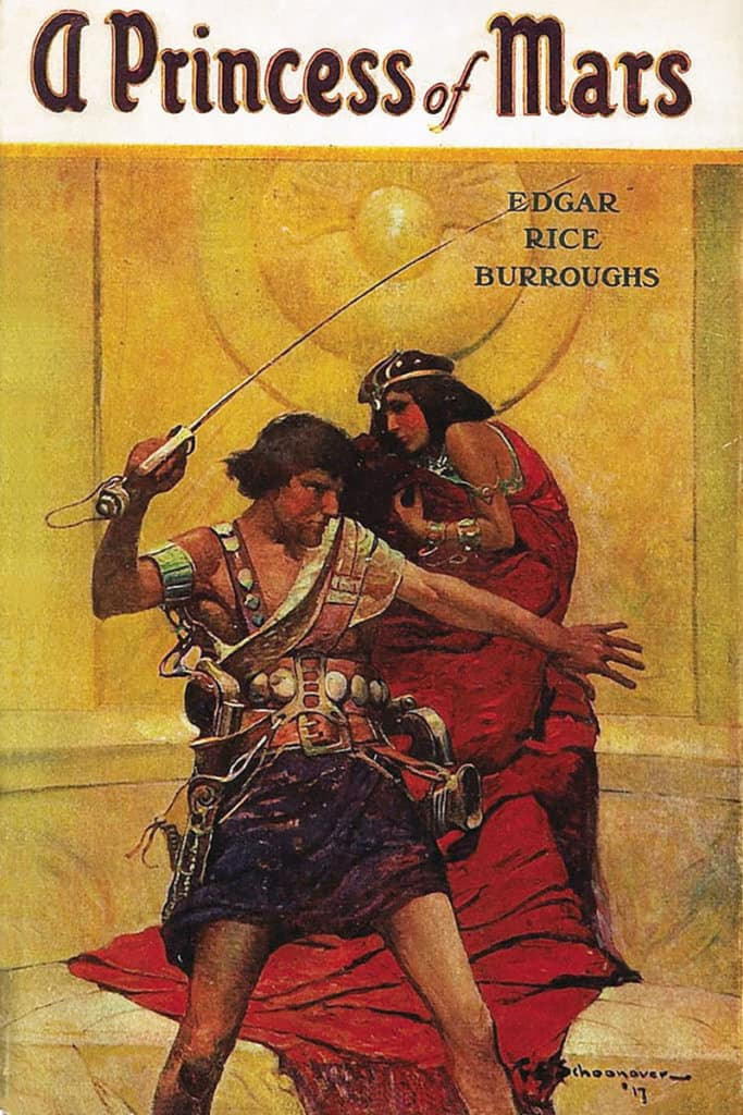 A Princess of Mars — © Edgar Rice Burroughs, 1917 — © Éditions A. C .McClurg & Co., 1917 — © Illustration de l'édition originale Frank Earle Schonoover, 1917