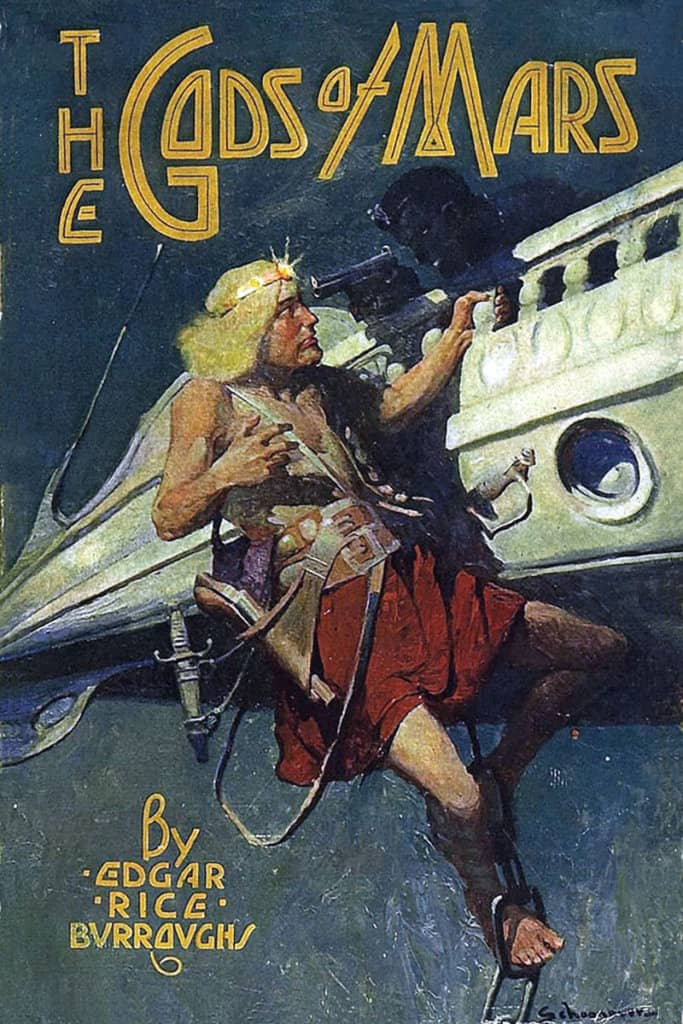 The Gods of Mars — © Edgar Rice Burroughs, 1918 — © Éditions A. C .McClurg & Co., 1918 — © Illustration de l'édition originale Frank Earle Schonoover, 1918
