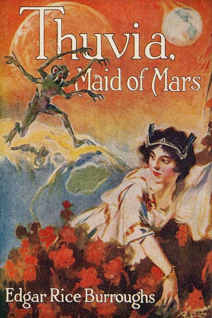 Thuvia, Maid of Mars — © Edgar Rice Burroughs, 1920 — © Éditions A. C .McClurg & Co., 1920 — © Illustration de l'édition originale J. Allen St. John, 1920