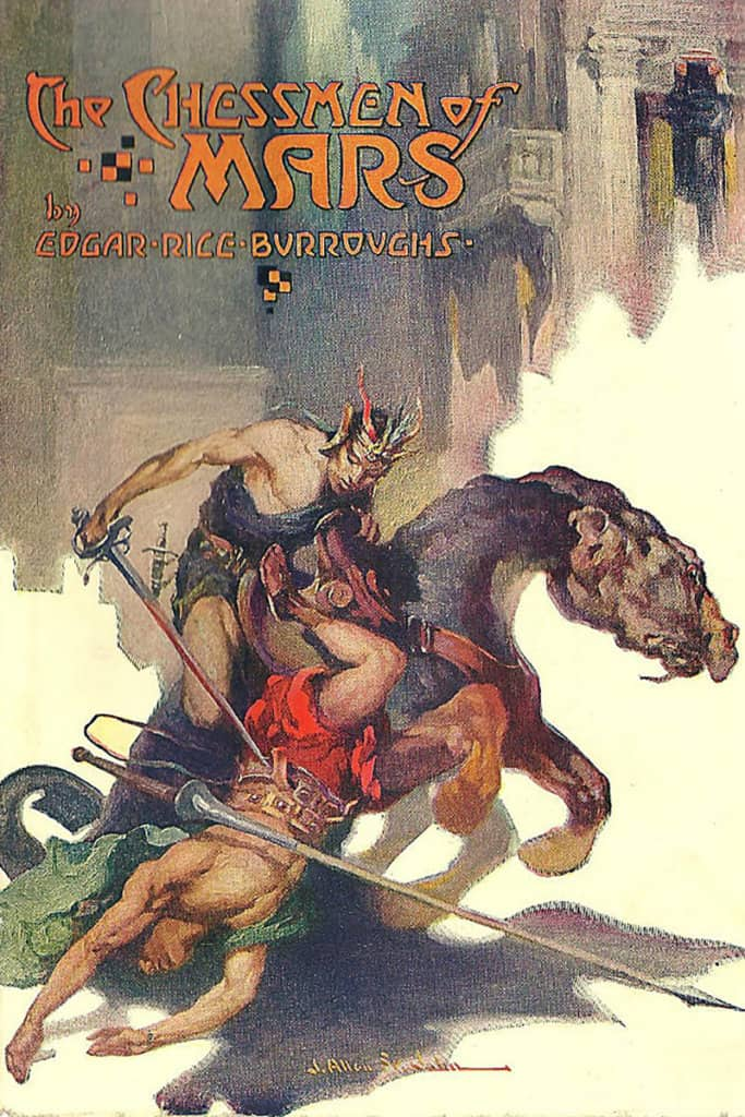 The Chessmen of Mars — © Edgar Rice Burroughs, 1922 — © Éditions A. C .McClurg & Co., 1922 — © Illustration J. Allen St. John, 1922