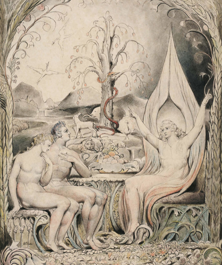 Illustration pour le Paradis perdu de John Milton — William Blake — 1807