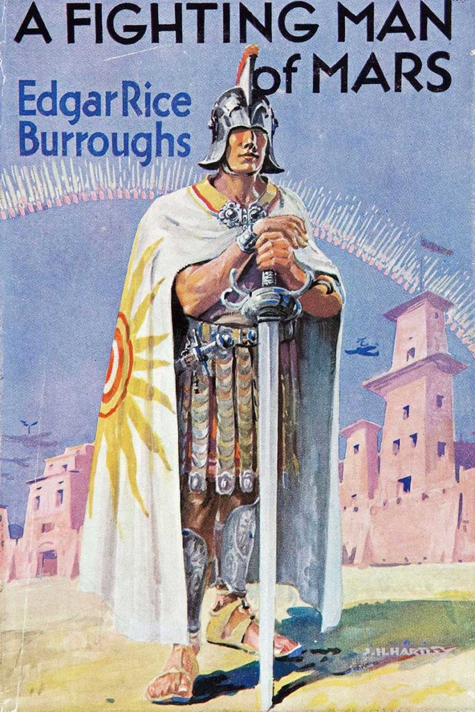 A Fighting Man of Mars — © Edgar Rice Burroughs, 1931 — © Éditions John Lane, 1932 — © Illustration pour la deuxième édition J. H. Hartley, 1932