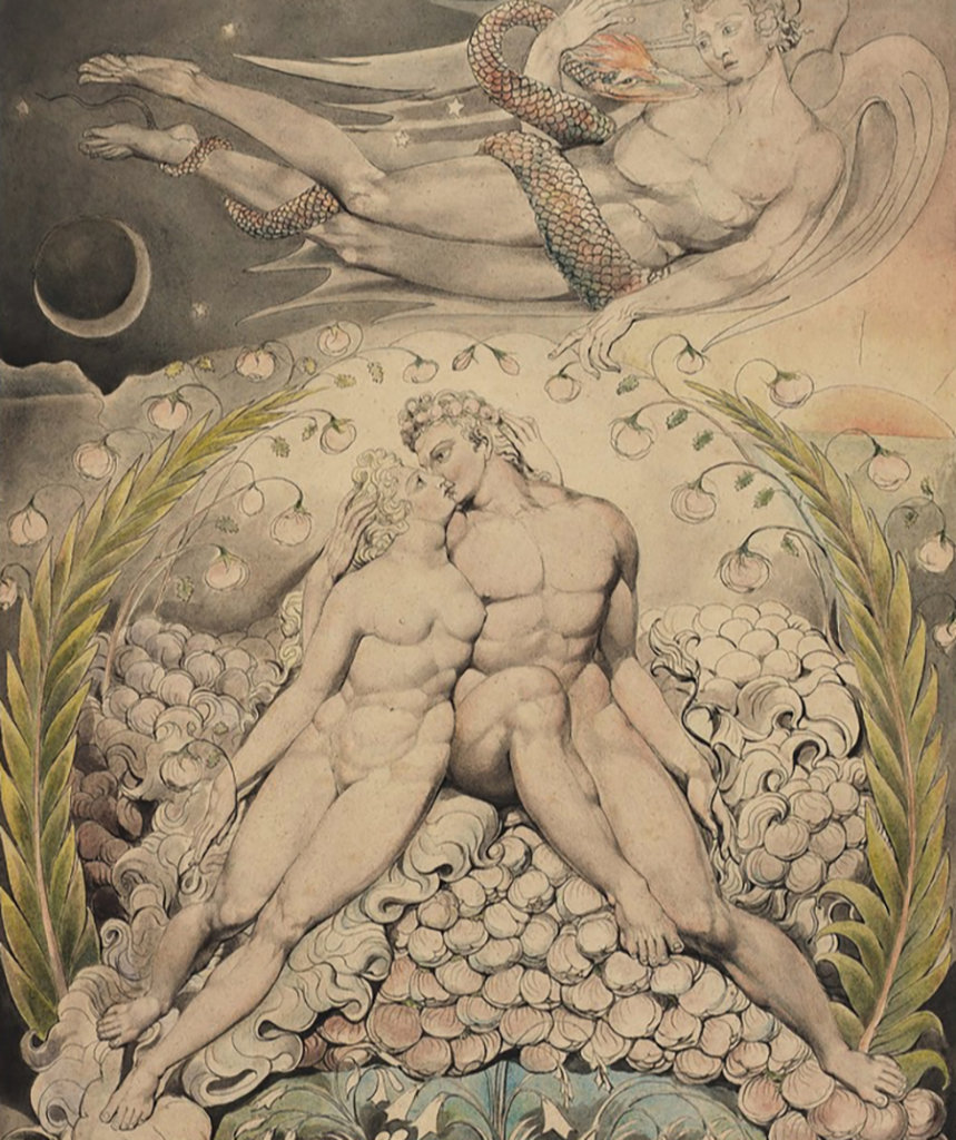 Illustration pour le Paradis perdu de John Milton — William Blake — 1808