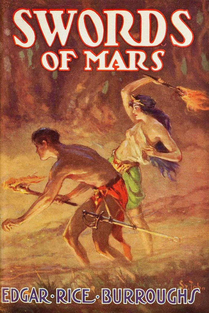 A Fighting Man of Mars — © Edgar Rice Burroughs, 1936 — © Éditions Edgar Rice Burroughs, Inc. Tarzana, 1936 — © Illustration J. Allen St. John, 1936
