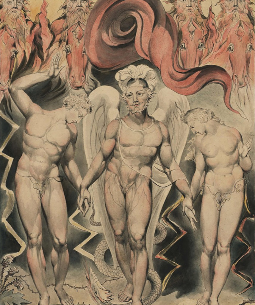 Illustration pour le Paradis perdu de John Milton — William Blake — 1809
