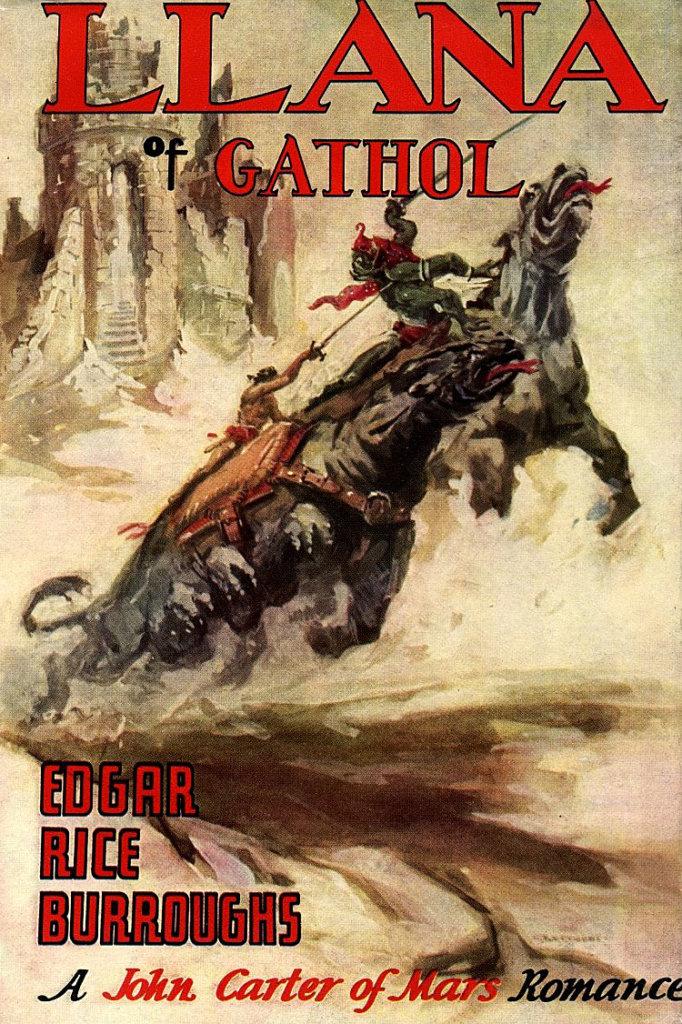 Llana de Gathol — © Edgar Rice Burroughs, 1948 — © Éditions Edgar Rice Burroughs, Inc. Tarzana, 1948 — © Illustration de l'édition originale John Coleman Burroughs, 1948