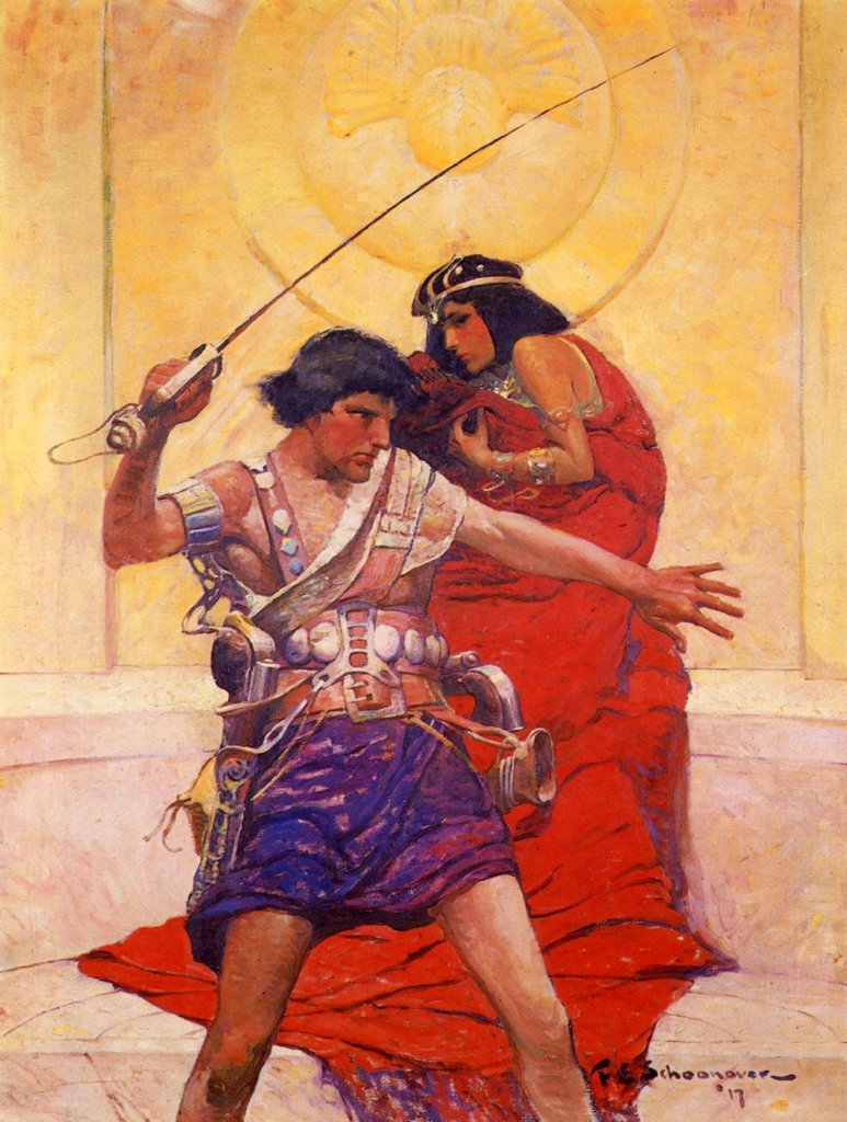 A Princess of Mars — © Edgar Rice Burroughs, 1917 — © Éditions A. C .McClurg & Co., 1917 — © Illustration de l'édition originale Frank Earle Schonoover