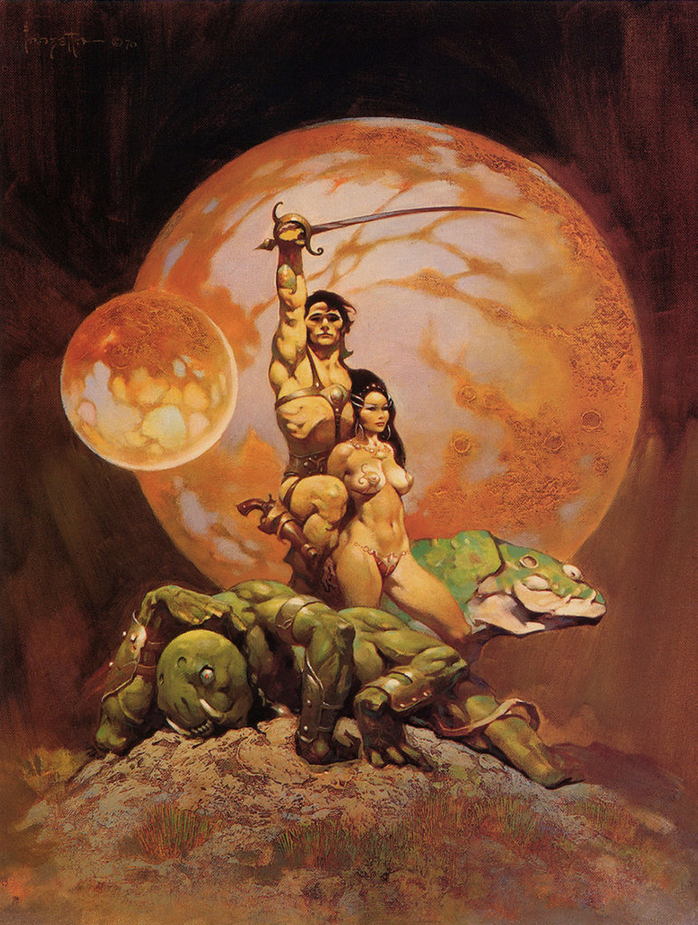 A Princess of Mars — © Edgar Rice Burroughs, 1917 — © Éditions Doubleday SF Book Club, 1970 — © Illustration Frank Frazetta