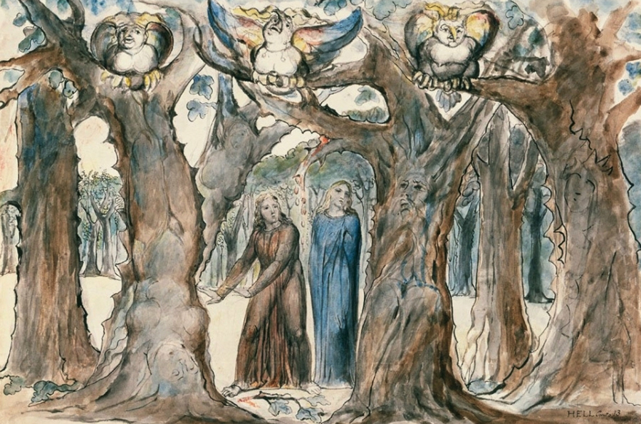 La Divine Comédie : L'Enfer — William Blake