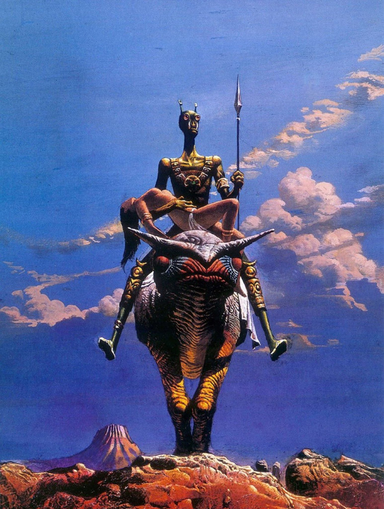 A Princess of Mars — © Edgar Rice Burroughs, 1917 — © Éditions New English Library, 1975 — © Illustration Bruce Pennington, 1975