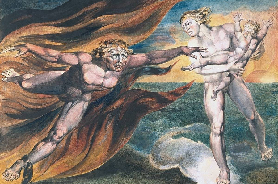 Les Anges du bien et du mal — William Blake — 1795-1805