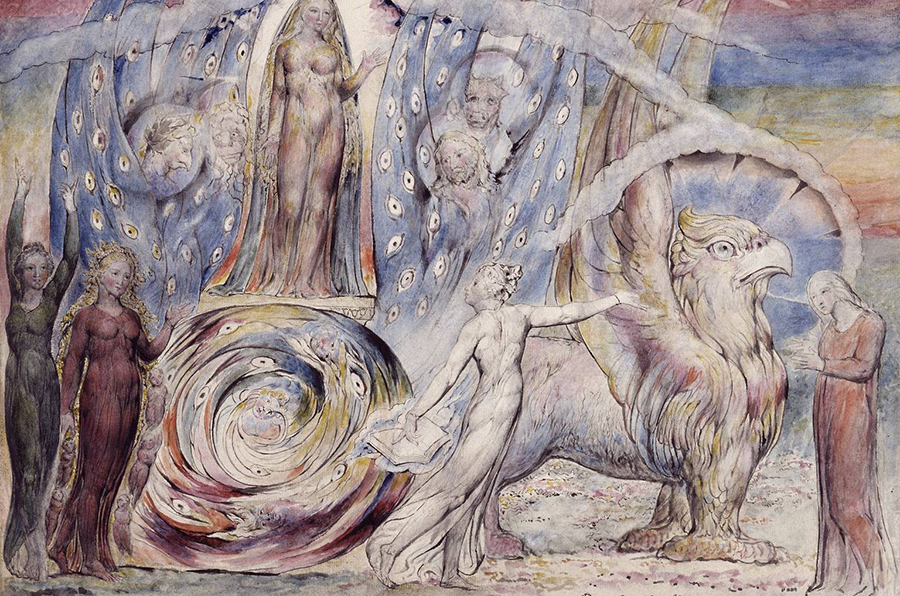 Béatrice et Dante — William Blake — 1824-1827