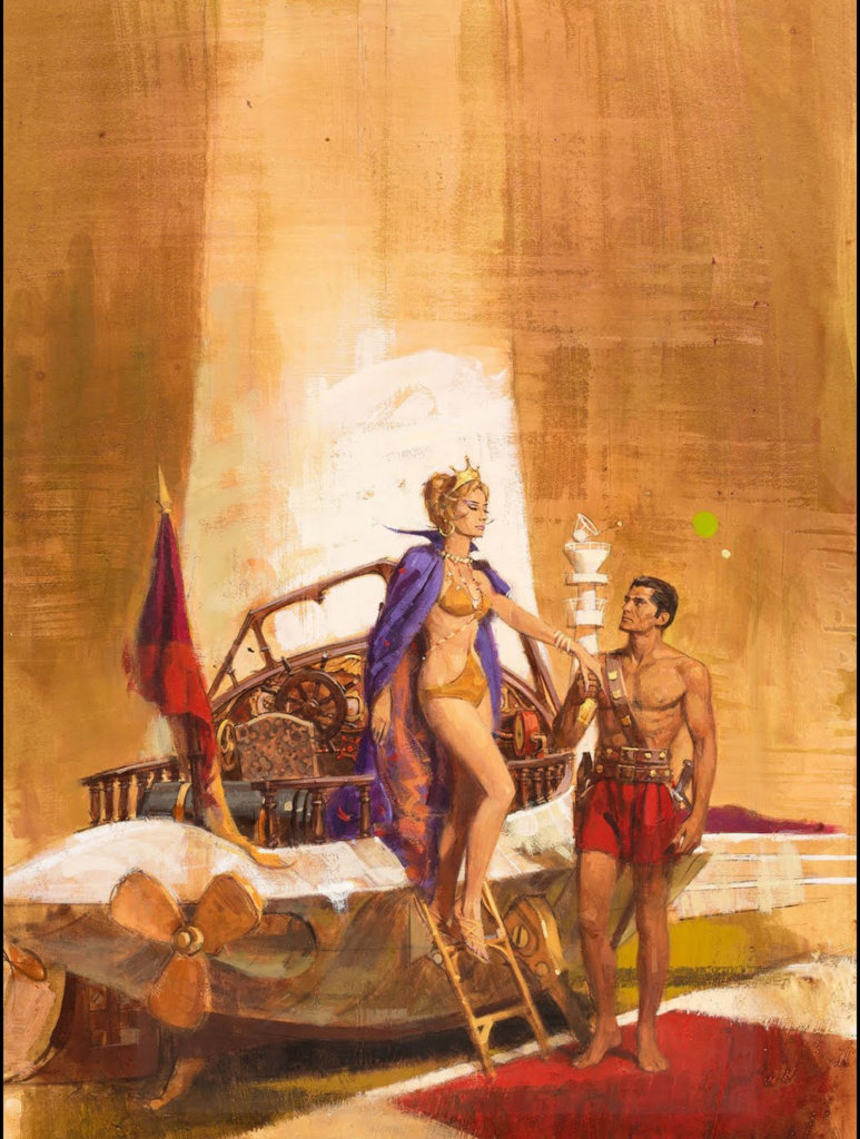 Thuvia, Maid of Mars — © Edgar Rice Burroughs, 1920 — © Éditions Ballantine, 1926 — © Illustration Robert Kennedy Abbett, 1926