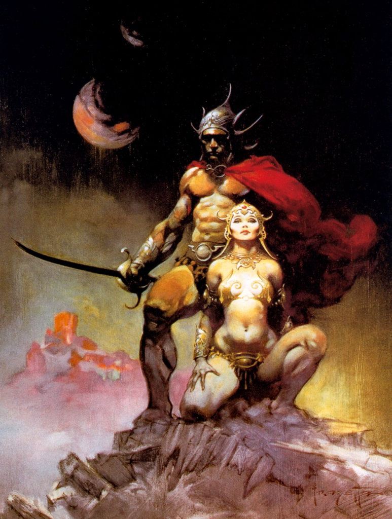 The Master Mind of Mars — © Edgar Rice Burroughs, 1928 — © Éditions Doubleday SF Book Club, 1973 — © Illustration intérieure Frank Frazetta, 1973