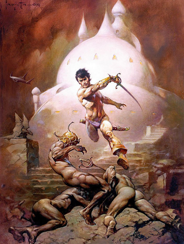 A Fighting Man of Mars — © Edgar Rice Burroughs, 1936 — © Éditions Doubleday SF Book Club, 1977 — © Illustration Frank Frazetta, 1977