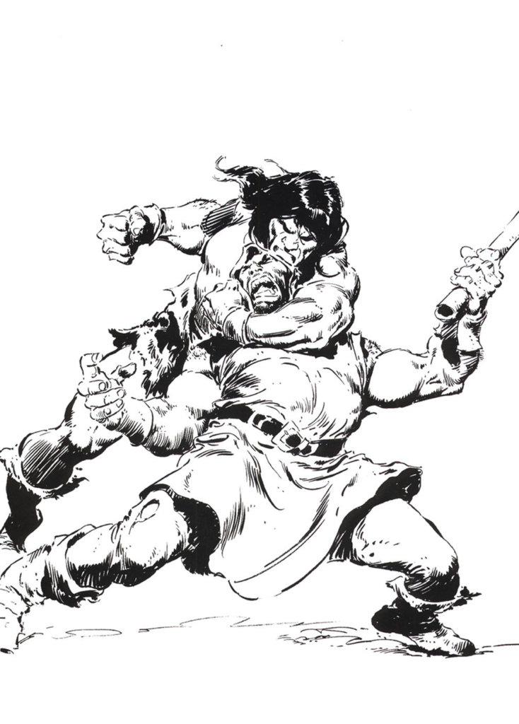 Conan le Barbare — Conan by John Buscema Limited Portfolio — © S.Q. Productions Inc., 1980 — © Robert Ervin Howard et John Buscema