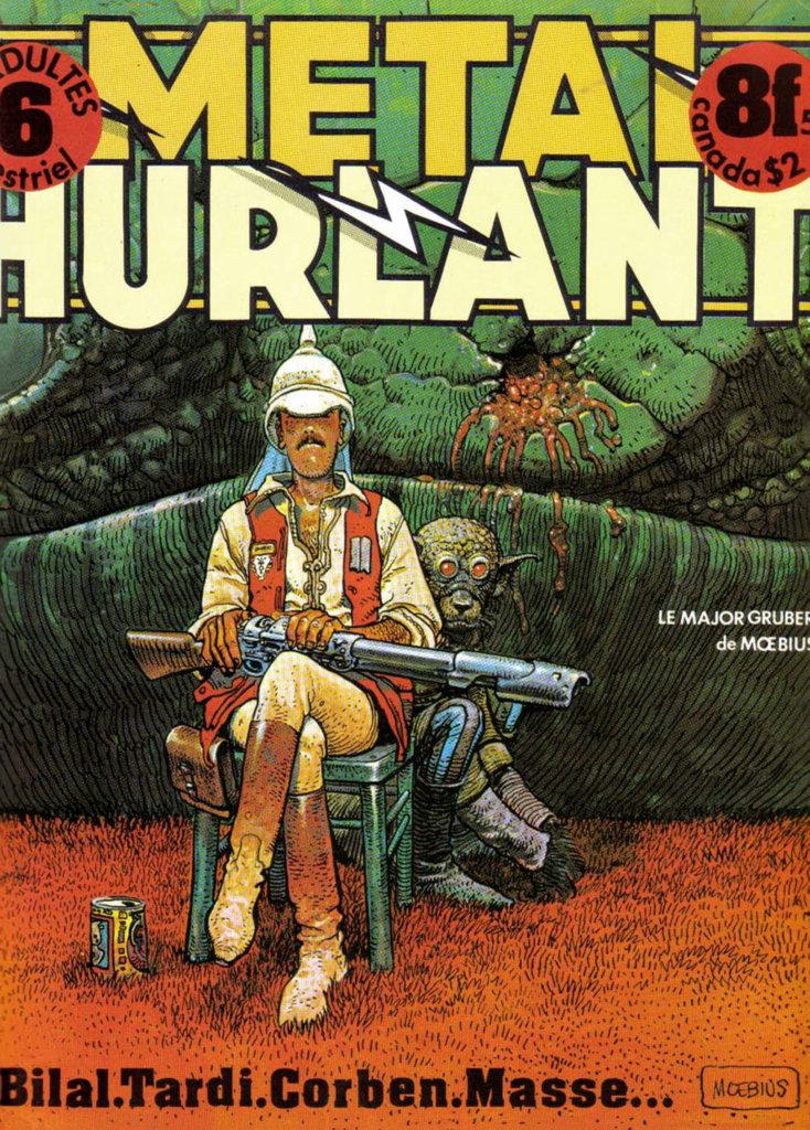 Métal Hurlant — Tome6 — Le Major Gruber — © Éditions Les Humanoïdes Associés, 1975 — Couverture: © Mœbius, 1975