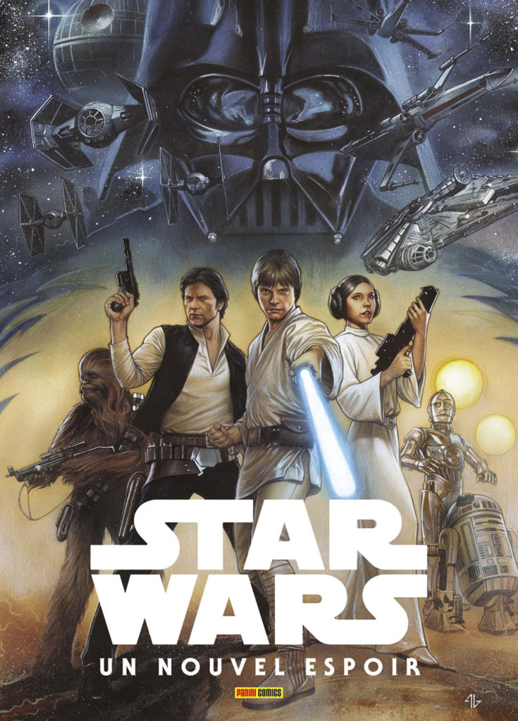 Star Wars — Un nouvel espoir — © Éditions Panini Comics, 2016 — © Roy Thomas et Howard Chaykin, 1978 — © Couverture: Adi Granov, 2016