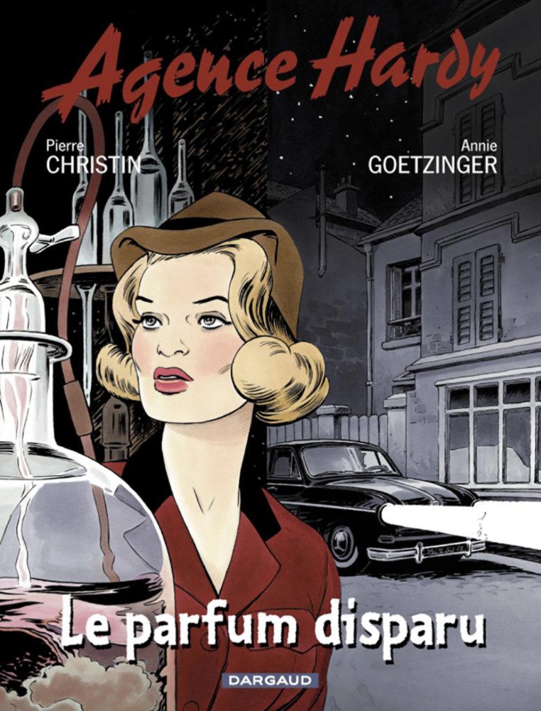 Agence Hardy — Le Parfum disparu — Scénario © Pierre Christin2001 — Dessin et Couleur © Annie Goetzinger2001 — Éditions Dargaud2001