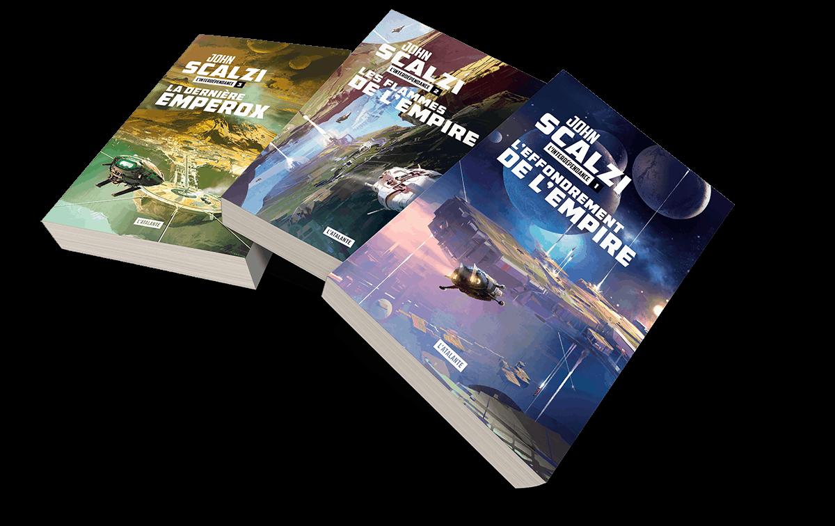 Trilogie L'Interdépendance, John Scalzi, Éditions L'Atalante